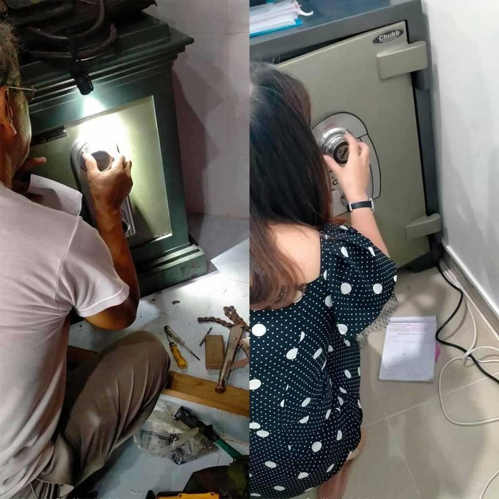 Dịch vụ mở khóa két sắt tại nhà, hướng dẫn khách hàng đổi mật khẩu, sử dụng két sắt đúng cách