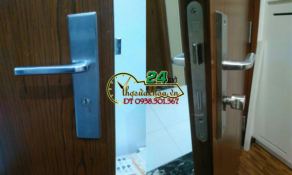 Mở khóa cửa tay gạt tại nhà Sửa khóa cửa tay gạt Làm chìa giá rẻ