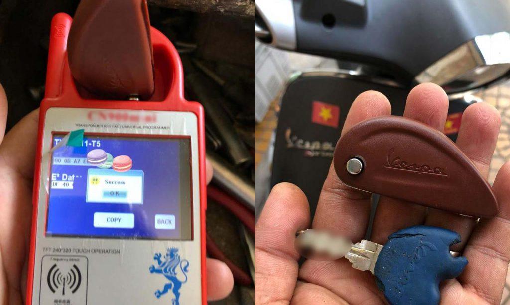 Chép chìa khóa Vespa Bọc chìa khóa độ gập Vespa Liberty