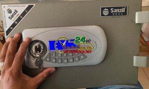 Mở khóa két sắt Sanzil, làm chìa khóa két sắt và cấp lại mật khẩu.