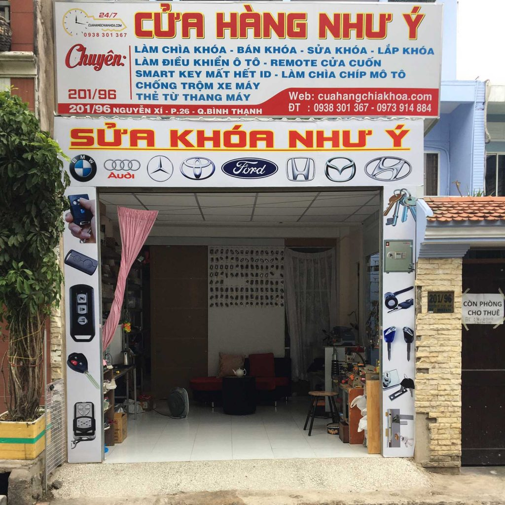 Sửa khóa Như Ý tiệm sửa khóa như ý giá rẻ Quận Bình Tân