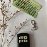 Chìa khóa remote điều khiển cửa cuốn học lệnh học mã 310 mHz chống nước nút trắng