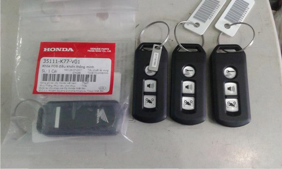 Mã số ID chìa khóa smartkey xe Honda lưu ở đâu