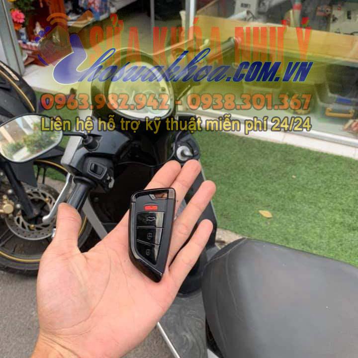 Độ chìa khóa xe ô tô cho xe máy ổ khóa smartkey độ mở cốp cho xe máy
